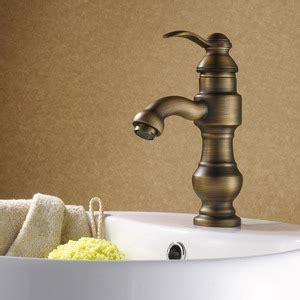 Antique Copper Carving Deck Mount Bathroom Sink Faucet European Bathroom Fixtures