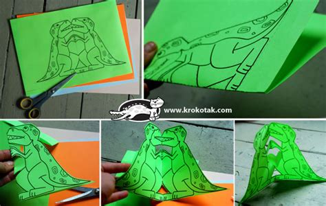 dinosaur pop up card template krokotak pop up cards animals in