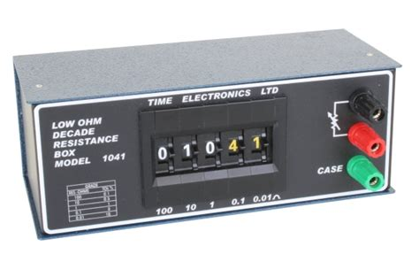 decade resistance box time electronics 1041 resistance decade box time electronics usa