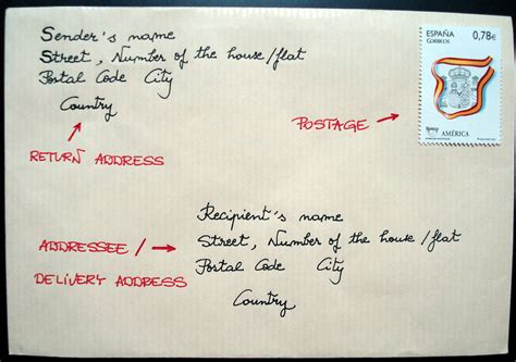 Letter Address Penpalling And Letters How To Address An Envelope