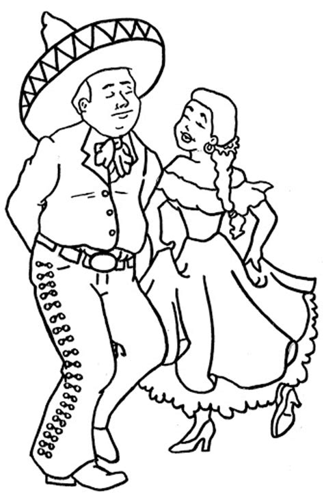 Mexican Dance Coloring Pages Mexican Coloring Pages