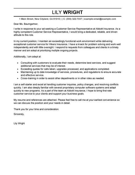 cover letter sample insurance customer service resume sample