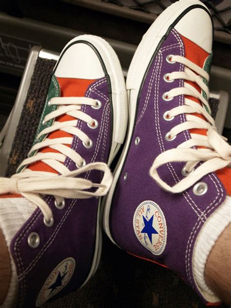multi colored converse converse addict quot multi color quot chuck all hi