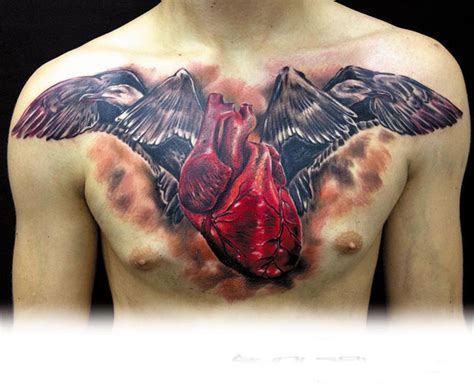 imagenes de corazones mecanicos tatuaje coraz 243 n cuervos