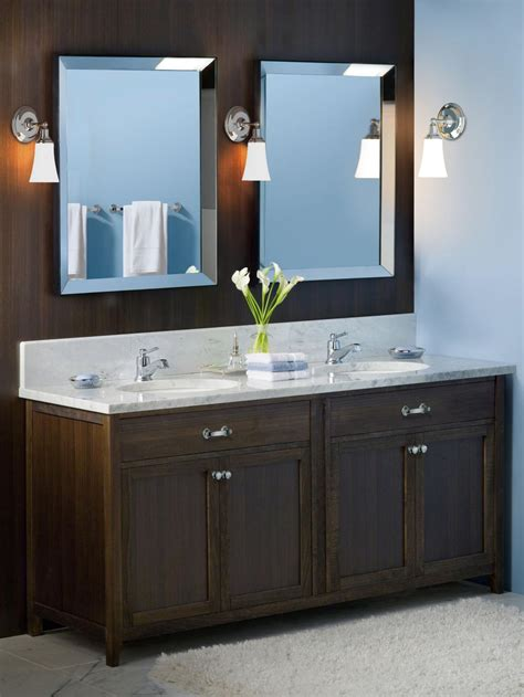 bathroom vanity update how to frame a mirror bathroom ideas designs hgtv modern