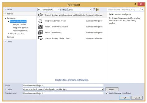 business intelligence templates for visual studio 2013 download sql server data tools business intelligence for