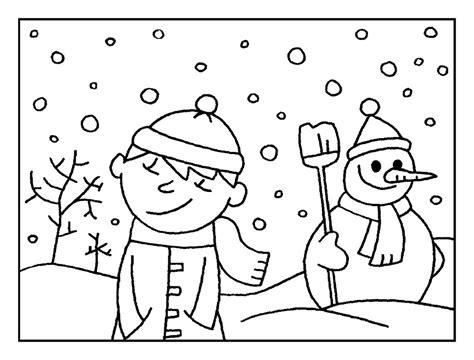 imagenes para colorear vacaciones de invierno invierno dibujos para colorear