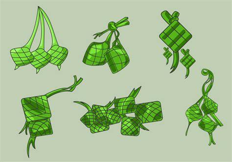 hand drawn ketupat vector   vectors clipart