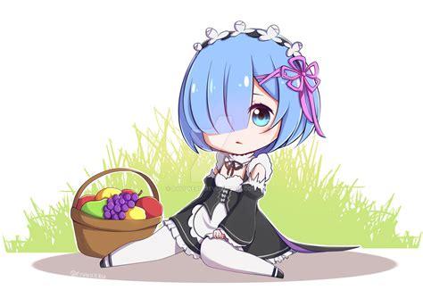 Kaos Rem Chibi Re Zero Hobiku Anime Store re zero rem chibi by ryuukeru on deviantart