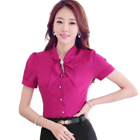 7 Office Wear No Nos by Summer Bow Shirt Sleeve Chiffon Blouse Plus