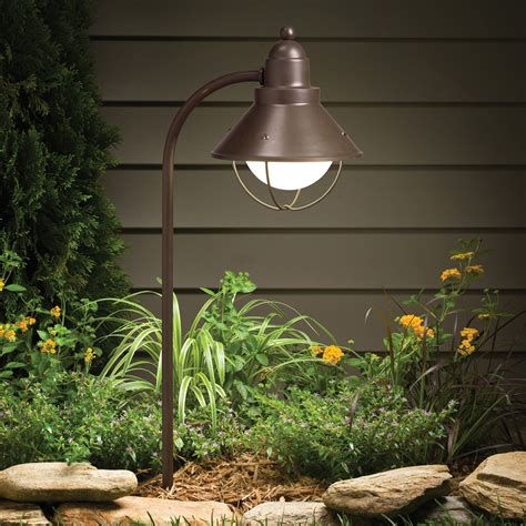 landscape path light kichler 15239oz seaside 120v landscape path spread light