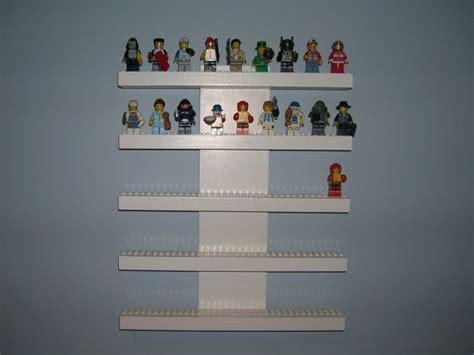 Figure Shelf by Lego Mini Figure Display Shelf White 5 Row Shelves Studs And Lego