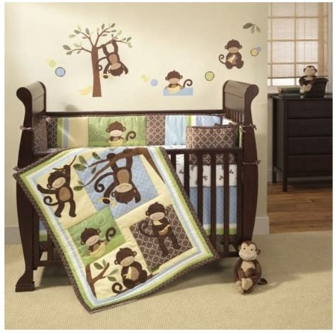 cheap crib bedding best cheap monkey crib set 4 piece monkey crib bedding