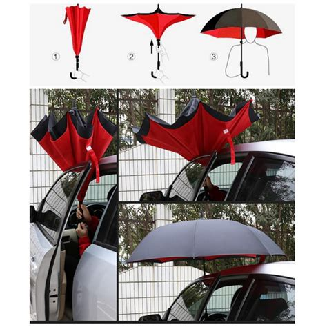 Inverted Umbrella Payung Terbalik Motif Payung windproof folding layer inverted chuva umbrella self stand inside out