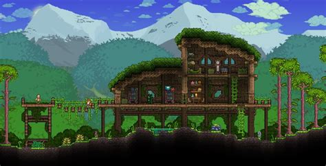 how to build a house in terraria terraria khaios build jungle house constru 231 245 es