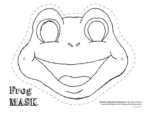 frog cut out template frog mask colouring pages dyi
