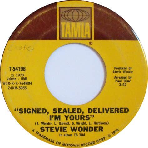 soul serenade stevie wonder quot signed sealed delivered i