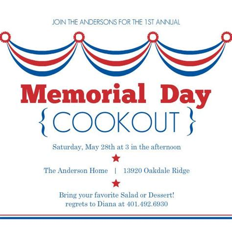 Flags Invitations And Memorial Day On Pinterest Day Invitations Template