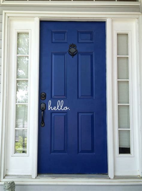 blue front door 5 fantastic before and after front door makeovers blue