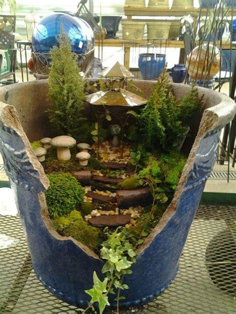 Broken Pot Garden by Creative Ideas To Make Mini Garden From Broken Pots