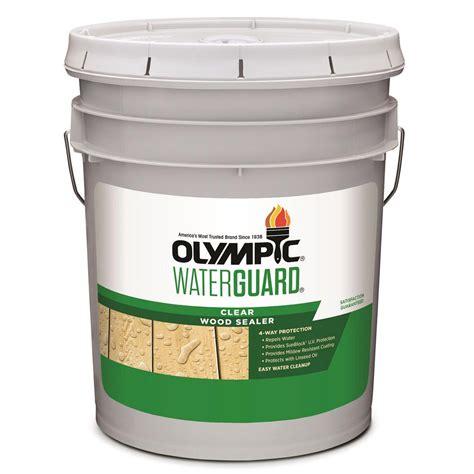 olympic waterguard  gal clear wood sealer xi