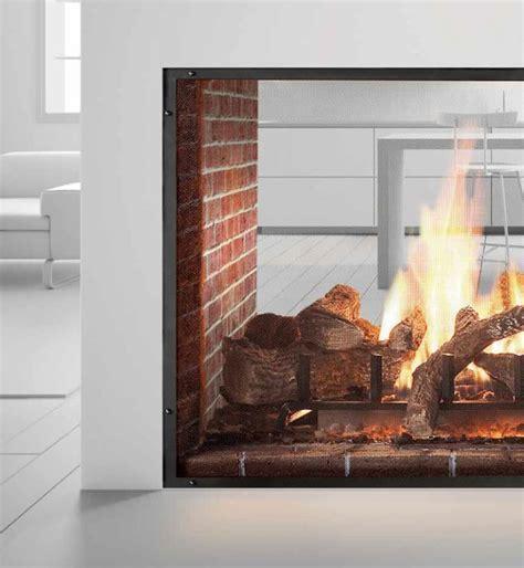heat glo escape see through gas fireplace portland