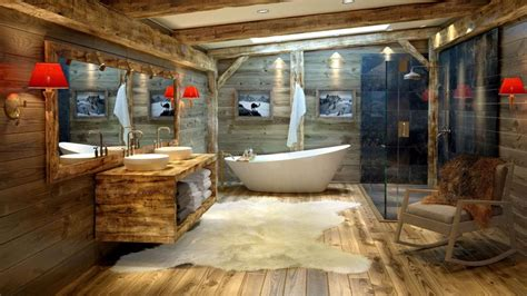 wooden house bathroom mountain chalet bathroom by alexdesign1664 3d image