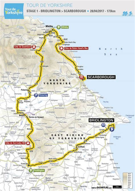 The 2017 Tour De Yorkshire See Maps Of The Routes Tyne Tees Itv | tour de yorkshire 2017 route and maps where to watch