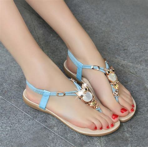 Best Quality Sandal Flat V49 sandals 2016 comfort rhinestone sandals