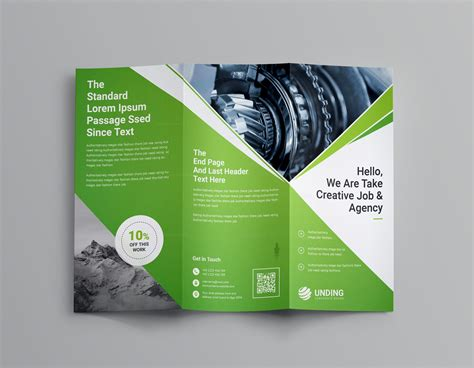 bi fold tri fold brochure template design corporate pinterest