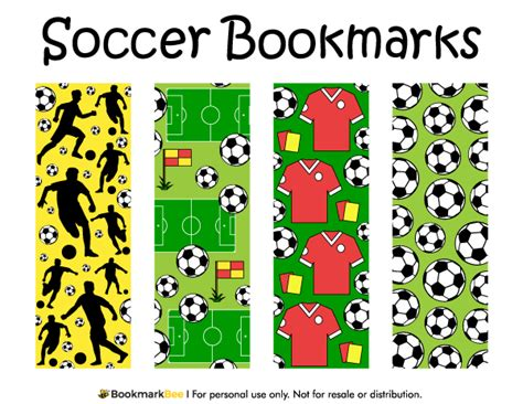 printable baseball bookmarks free printable soccer bookmarks download the pdf template