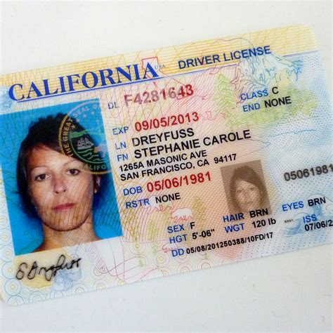 california drivers license template images templates
