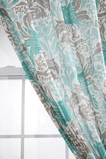 Gray Light Aqua Curtains Home Pinterest