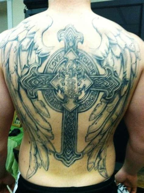 tribal wings back tattoo back wing tattoos for ideas pictures