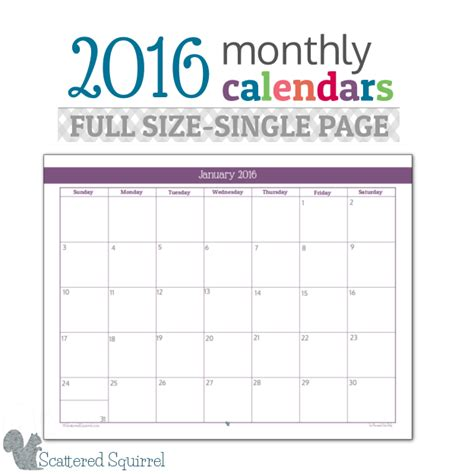 printable monthly planner for 2016 musings of an average mom free printable 2016 calendar