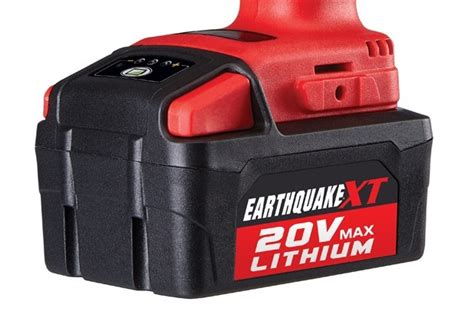 earthquake xt 3 8 new harbor freight cordless tools lithium 20v earthquake