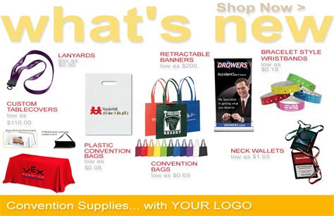 Convention Giveaway Items - convention promotional items convention promotional