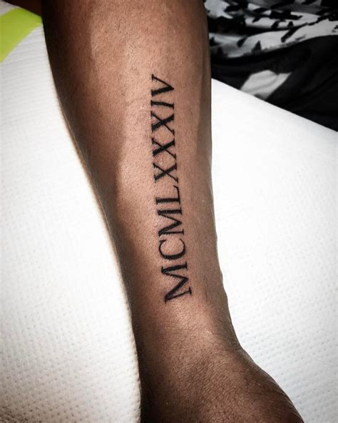 roman numerals tattoo designs 70 best numeral designs meanings be