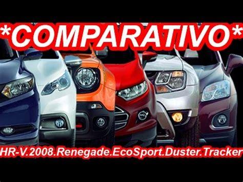 honda jeep 2008 comparativo tracker vs ecosport vs honda hr v vs jeep