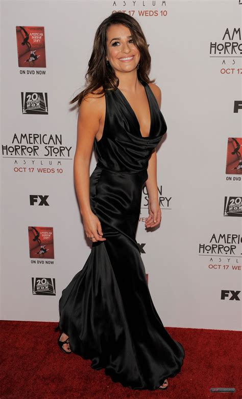 american horror story asylum premiere five minutes on huffpost lea michele at american horror story asylum premiere in los angeles hawtcelebs