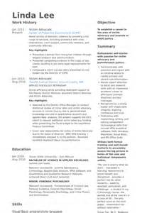 Advocacy Officer Sle Resume by Advocate Resume Sles Visualcv Resume Sles Database