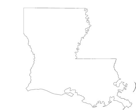 louisiana state map outline louisiana state outline map free