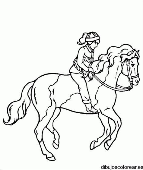 dibujos para colorear caballos image gallery jinete para colorear