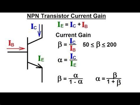 transistor npn gain electrical engineering ch 3 circuit analysis 29 of 37 npn transistor current gain