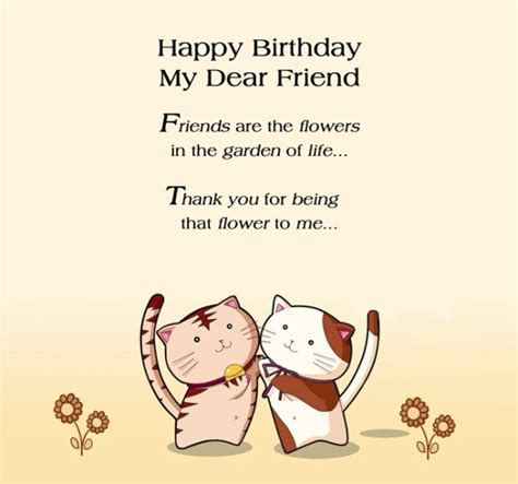 Happy Birthday To My Dear Friend Quotes Happy Birthday Wishes For Friend