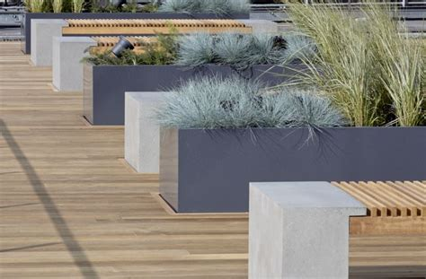 Powder Coated Planters by Powder Coated Steel Planters Bespoke Steel Planters
