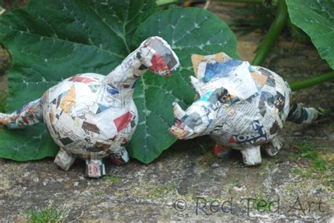 How To Make A Paper Mache Dinosaur - crafts paper mache dino bank ted s