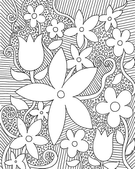 free coloring pages of trees and flowers free coloring pages for adults trees flowers