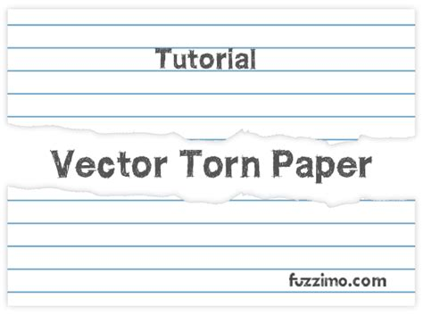 torn paper vector tutorial illustrator fuzzimo