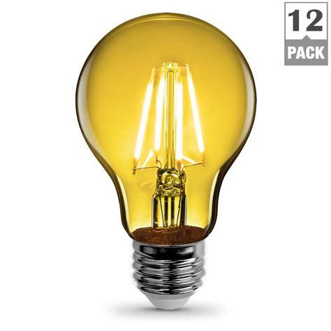 Feit Electric 3 6 Watt Yellow A19 Filament Led Light Bulb 3 Watt Led Light Bulb